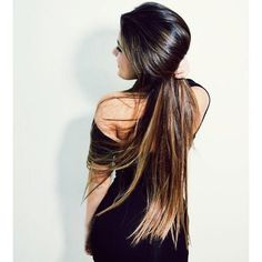 slick ponytail :P this is my goal to grow out my hair and then donate it!!