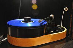 Blue vinyl on AMG Viella 12 turntable