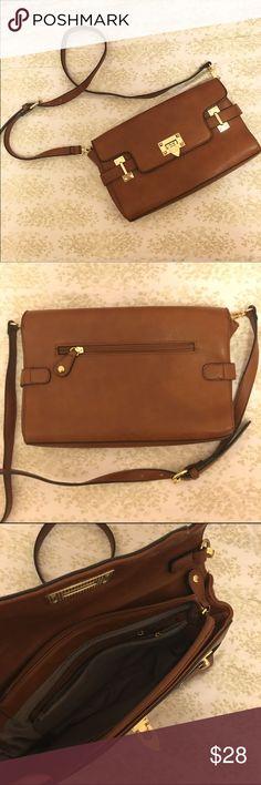 Satchel Bag Brown- cognac color bag with gold accents. Bags Satchels