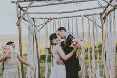Decorating With Ribbon? Use Flagging Tape Instead! A Practical Wedding: Blog Ideas for the Modern Wedding, Plus Marriage