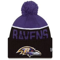 3c32094ac04 Baltimore Ravens New Era 2015 Sport Sideline Cuffed Knit Hat