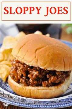 Homemade Sloppy Joes come together in less than 30 minutes for a quick and easy dinner -- even on your busiest nights. A handful of simple pantry staples like ketchup, mustard, and cider vinegar create a made-from-scratch sweet and tangy Sloppy Joe sauce that's so much better than the canned stuff! Sloppy Joe Sauce, Homemade Sloppy Joes, Recipe Please, Ketchup, Lunch Recipes, Crockpot, Favorite Recipes, Dinner, Easy