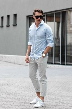 36 Mens Chinos Outfit for Cool Casual Style Mode Masculine, Men Looks, Classy Outfits, Casual Outfits, Casual Wedding Attire, Stylish Men, Men Casual, Casual Menswear, Casual Chic