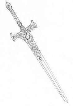 Celtic Sword Celtic sword by haardod