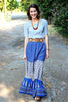 wear a dress as a maxi skirt!