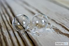 Kolczyki Kolczyki z dmuchawcem w szklanych banieczkach