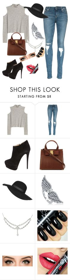 """""""Untitled #55"""" by raregold on Polyvore featuring Giuseppe Zanotti, Topshop, BERRICLE, Fiebiger, women's clothing, women's fashion, women, female, woman and misses"""