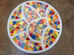 Prato giratório em mosaico