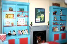 painted bookcase  Google Image Result for http://projectnursery.com/wp-content/uploads/2009/04/shelves.jpg