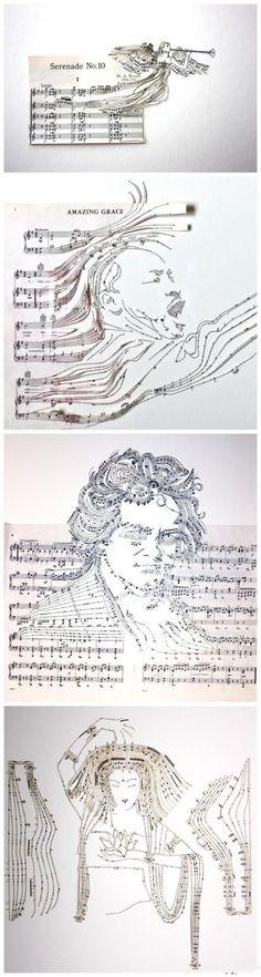 Legendary singers in music score