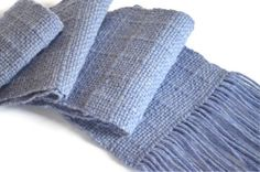 Handwoven light blue scarf unisex Alpaca wool scarf by Tafipiri, £34.00
