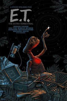10 filmes para conhecer o cinema de Steven Spielberg. Poster do filme E. - O Extraterrestre. 10 filmes para conhecer o cinema de Steven Spielberg. Poster do filme E. - O Extraterrestre. Iconic Movie Posters, Cinema Posters, Movie Poster Art, Iconic Movies, 80s Posters, Cinema Cinema, Amazing Movies, Cinema Movies, Protest Posters