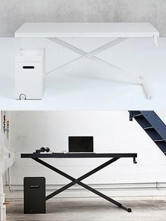 XTable Is A Minimalist Desk With Manually Adjustable Height. It Uses An Old  Principle Similar
