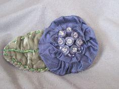 Handmade Fabric Brooch  Blue/violet dupioni silk by nedaoriginals, $25.00    I love this!!