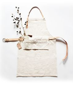 Canvas and leather apron from Emily Thompson Flowers.  There's a denim version too.