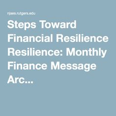 Steps Toward Financial Resilience: Monthly Finance Message Arc...