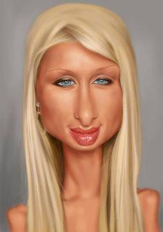 Caricatura de Paris Hilton - www.remix-numerisation.fr - Rendez vos souvenirs…