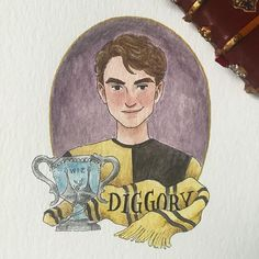 He was the first death we witnessed in the series, I think that was when Harry Potter became more dark and serious -- that was a sad day for me ☹️ R. I. P. Cedric  #potterportraits