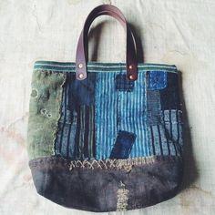 Bag #patch #patchwork #boro #fashion #blue #indigo