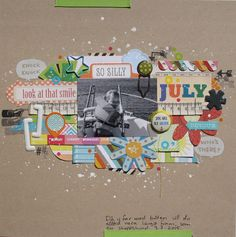 Saras pysselblogg - Sara Kronqvist: Look at that smile | Scrapbook layout with lots of die-cuts!