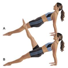 Reverse Plank with Leg Raise | Women's Health Magazine