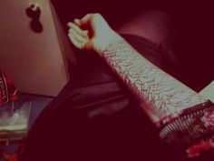 one of my friends new unknown pleasures joy division tattoo. just loooove it <3