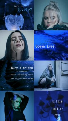 Best Blue Aesthetic Wallpaper Billie Eilish Ideas - Best of Wallpapers for Andriod and ios Aesthetic Iphone Wallpaper, Nature Wallpaper, Aesthetic Wallpapers, Purple Wallpaper, Girl Wallpaper, Billie Eilish, Aesthetic Collage, Blue Aesthetic, Video Interview