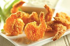Ritz Buffalo Shrimp are a great addition to any tailgate, they are so easy to make and they're baked, not fried! #football #buffalo