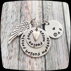 Memorial Gift, Loved Beyond Words, Remembrance Necklace, Loss of friend or family, Memorial Jewelry, Personalized Remembrance Jewelry