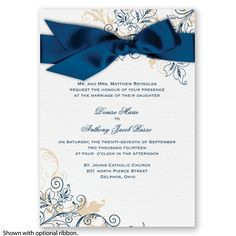 Flourish with Golden Shadow – Elegant Wedding Invitations | Invitations by David's Bridal| Enter the David's Bridal PINvitation Sweepstakes for a chance to win $1,000 to spend on Invitations by David's Bridal! http://cur.lt/1SVuDiv Sweepstakes ends May 20, 2016. [Promoted Pin]