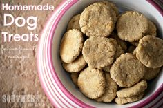 Recipes for Dogs: Homemade Dog Treats - These peanut butter oatmeal dog treats are a healthy treat that every pup will love!