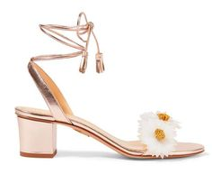 Charlotte+Olympia+Original+production,Cost-effective.  Dream+garden+~+three-dimensional+daisy+flowers+decoration,+gold+lace-up+sandals.    Color:+light+golden    Uppers:+the+first+layer+of+leather    Inside:+leather    Insole:+leather    Soles:+leather+bottom    Number+of+yards:+standard+code+num...