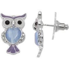 LC Lauren Conrad Owl Drop Earrings ($9.80) ❤ liked on Polyvore featuring jewelry, earrings, blue, blue earrings, owl earrings, blue silver jewelry, owl jewellery and silver jewelry