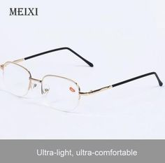 1c9386c7ec6 Half Metal Frame Nearsighted Glasses Resin Nearsight Woman Men Shortsighted  Myopia Eyewear.-1 1.5 2 2.5 3 3.5