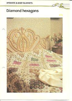Granny Square Pattern, Crochet Blanket Pattern, Afghan Vintage Crochet Pattern PDF op Etsy, 1,54€