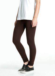 RE-LEGS   Rose katoenen legging bruin   Nu 10% korting! - soshin.nl Basic Leggings, Black Jeans, Rose, Pants, Fashion, Trouser Pants, Moda, Pink, Fashion Styles