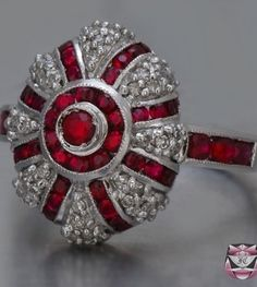 Stacking Gold Diamond Rings and Stacking Silver Diamond Rings. Emeralds and diamonds Art Deco Ruby Diamond Ring Art Deco Diamond Rings, Ruby Diamond Rings, Art Deco Ring, Ruby Rings, Bijoux Art Deco, Art Deco Jewelry, Jewelry Design, Ruby Jewelry, I Love Jewelry
