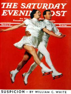 Saturday Evening Post - 1937-03-06: Ice-skating Pair (V. Keppler)