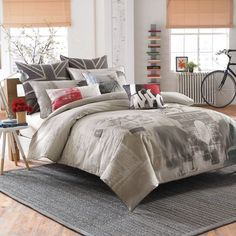 Frequent Flyer Duvet Cover Set, 100% Cotton - Bed Bath & Beyond $100 for queen