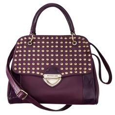 Nicole Lee® U.S.A. Studded Satchel Handbag - Purple