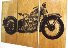 Vintage Harley Davidson 1946 Knucklehead   by CedarWorkshop
