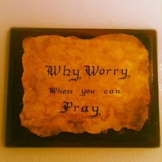 Why worry when so many others are doing it for you?? Such a waste of time---and a SIN!!