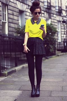 Yellow and Pleats