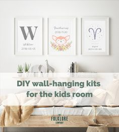 Create your own unique embroidery poster with your childs birth date and name in our design editor. Stitch it yourself or buy as ready-made. Simple and cute project for the nursery. Diy Kits, Diy Wall, Editor, Birth, Create Your Own, Kids Room, Cross Stitch, Nursery, Place Card Holders