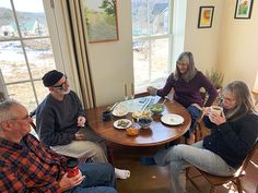 Coffee Klatches are one of many ways to connect and cozy up on a winter's day in community. Learn more at www.stowefarm.org