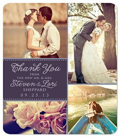 Photo Collage Thank You Magnet Four Photos Quality Wedding