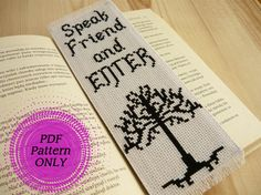 Pattern Cross stitch bookmark Lord of the Rings by MariAnnieArt