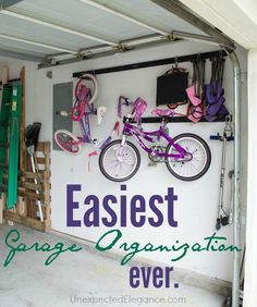 Check out some of the EASIEST garage organization EVER! #FastTrack #pmedia #ad