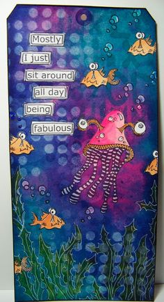 ten thirty-six arts and crafts ... ellen vargo: New Dylusions - Day 1 - Under The Sea