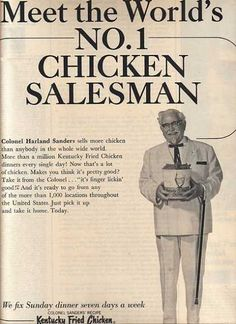 Kentucky Fried Chicken's Colonel Harland Sanders (1966)